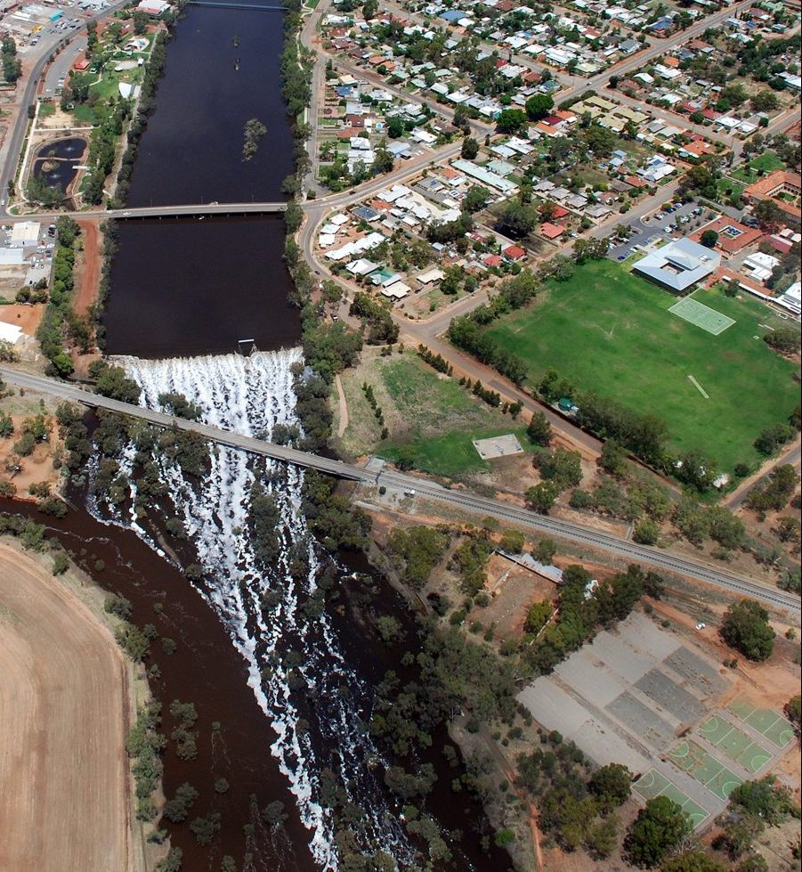 Aerial of Northam and Avon River
