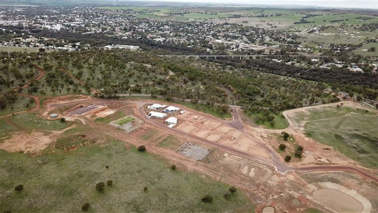 northam eco lifestyle village site from the air